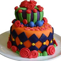Crazy Cake   Fondant covered cake