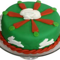 Bunny Cake   Fondant covered cake