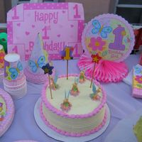 "Chloes_First_Birthday.jpg I really wanted to get creative but I had to make 5 of these 8"" cakes for an out door party to feed an indefinate number of people. It..."