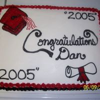 Graduation Cake 1/2 sheet with buttercream frosting