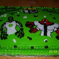 Ben 10 Ben 10 Characters done freehand with buittercream