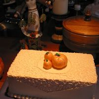 Trio Of Pumpkins This was one of two small cakes I made for a thanksgiving party at my relative's house.