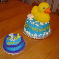 Ducky First Birthday   My mom did the smash cake and I did the ducky.