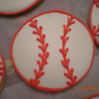 Baseball Cookies   NFSC WITH ROYAL ICING
