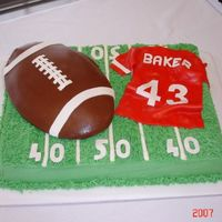 Football Field Grooms Cake Another first! Never having done a grooms cake I was nervous, but told myself if they hated it, they didnt have to display it!!! Anyway the...