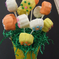 Cake Pop Bouquet made for a co-worker. Only second time making these, so I require much refining....they are so much fun to make though and love the endless...