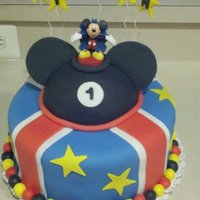 Mickey Mouse Cake This was fun to make, thanks for looking....