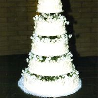 Wedding Cake All white with white flowers