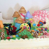 Candyland Birthday  I decorated this cake for my daughter's 3rd birthday. The cake is a half sheet from Costco (I didn't have time to bake) and I...