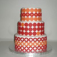 I See Spots!  This is a three-tiered mod cake I made inspired by some other cakes, including one by Kate Sullivan. It was fairly easy. I super-pearled...