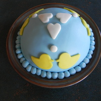 Ducky Love Cake MMF covered jello poke cake. Had some leftover cake and fondant and was on my way to visit my little 3yr old friend Samantha, thought I&#...