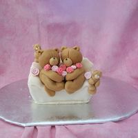 Forever Friend Fruit cake covered in sugar paste