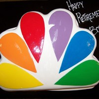 Nbc Retirement Cake Made this for a customer who's dad was retiring from NBC after 30 years.......enjoy!