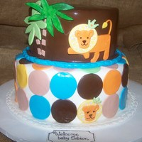 King Of The Jungle King of the Jungle themed baby shower cake, enjoy!!!