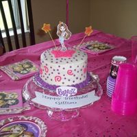 Bratz Cake This is a Bratz cake I did for a little girls b-day. The mom wanted a personal cake (2 6in rounds) for the b-day girl and then cupcakes. I...