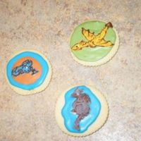 "Dragon Cookies These cookies are made to match the characters in the book, ""The Dragon Machine"". The book is a gift for our friends' son..."