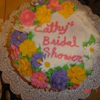 Basket Cake   marble cake with BC and RI flowers