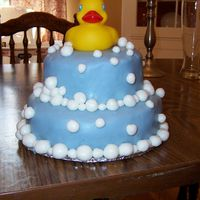 Rubber Ducky Birthday Cake here is a picture of a rubber duckie birthday cake I made for my sons first birthday.