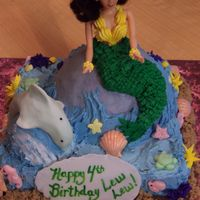 Mermaid Cake This design is from the wilton wonder mold as well as many ideas from this web site! The little girl wanted a mermaid and a dolphin for her...