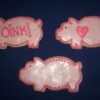 3 Little Pigs Sugar cookies with royal icing