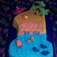 Number 1 Birthday Cake I made this cake for a friend's daughter who was turning One. Wilton Number One cake pan with buttercream icing. The letters for the...