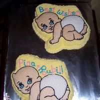 Twins - Baby Shower Cakes These are cakes I made for my sister-in-law's baby shower. We knew she was pregnant with twin girls so I made two cakes - one was...