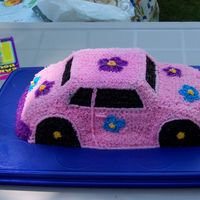 Flower Power Bug I made this cake for my niece's first birthday. Chocolate cake with buttercream icing. This was her smash cake but she wouldn't...