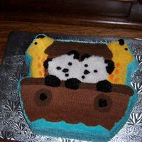 Baptism Cake - Noah's Ark I made this cake for my niece's baptism. White/chocolate marble cake with buttercream icing. Thanks for looking.