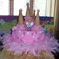 Princess Castle Birthday Cake  I made this cake for my niece's 3rd birthday. The cake is cherry chip iced with buttercream. (This is the first time that I have used...