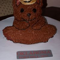 Western Teddy Bear Also for my high school musical, Oklahoma. It was my first time using my bear pan. His hat is fondant :)