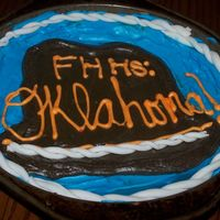 Cookie Cake Cookie Cake from my high school musical, Oklahoma. The rope is fondant.