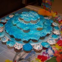 My First Cupcake Tower I made this for the annual Special Olympics dance we have in our county every year. My dad helps run it and my God-brother (whom has Downs-...