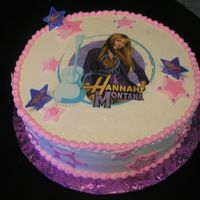 Hannah Montana Cake made w/edible image and fondant cutouts.TFL