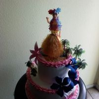 Luau Made this cake for a Luau Birthday. Simple cake. TFL