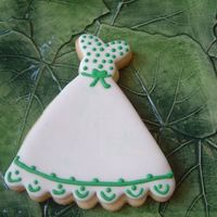 Dress Gown Cookies   no fail cookie with mmf base. details in modified royal.