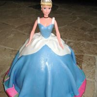 Cinderella Wondermold Cake Girl   made for a friend's daughter. my second cinderella cake. mmf icing. bodice also done in fondant.