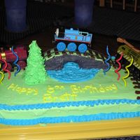 Thomas The Train 2 My son enjoyed his first Thomas cake so much that he's asked for a variation each year, He actually designed this one by telling me...