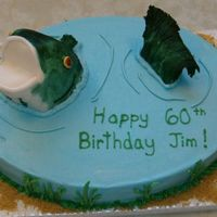 Fish In Pond I was asked to make a brthday cake and the only thing I was told was that he likes to fish. After my first cake nightmare I wasn't so...