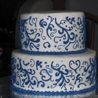 Bridal Shower This was a shower cake for a family member. Their color is navy so I was stumped for ideas. I planned on using this cake as shown here but...