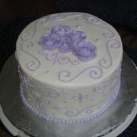 Practice - 1St Bc Roses This is my first cake that wasn't for one of my children's birthdays. Just a practice all in BC. This was my first attempt at BC...