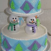 Snowmen This is based on a cake in the Wilton 2007 yearbook. We had a family Christmas early since my husbands cousin was on leave from Iraq. The...