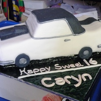 Car Cake sweet 16 will hardly get her old enough to have this car. This was also vanilla sponge, covered in fondant.