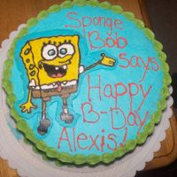 Spongebob Birthday Cake This was a birthday cake for my bestfriends 2 year old daughter who is in love with spongebob. This was also my first fbct and as you can...