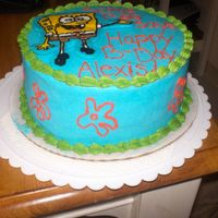 Spongebob Cake This is the side view of the cake