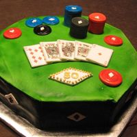 Poker Cake This looked better before I hit the edge on the fridge!