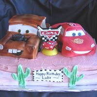 Cars Cake All sculpted cake with fondant.