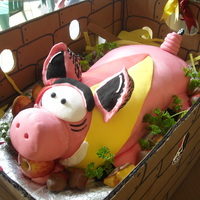 Hog Wild!! Hog cake for the scout cubs camp to feed 200...took two persons to carry him in his crate!