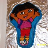 Dora Dora cake for my god daughters second birthday