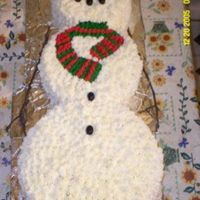 Snow Man Cake Made for my work Christmas Party.