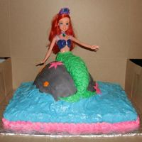 The Little Mermaid The Little Mermaid cake, made it just for fun and gave it to a friends little girl.
